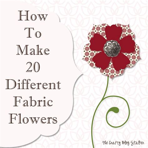 How To Make Handmade Flowers From Fabric - how to make handmade fabric flowers www imgkid the