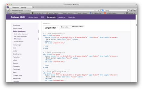 css sections javascript bootstrap component s navigation sidebar