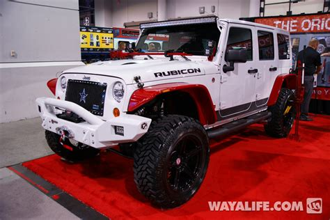 jeep wrangler white 4 door lifted 2013 sema hi lift white jeep jk wrangler 4 door