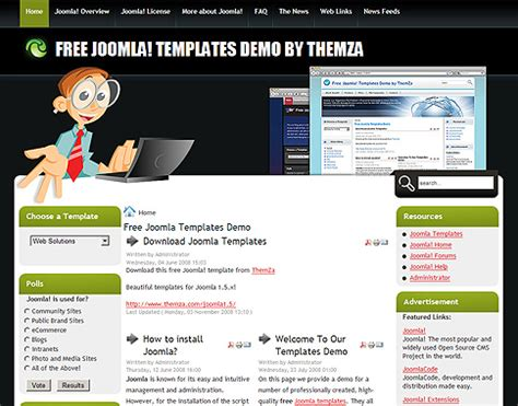 free computer website templates web solutions free joomla template from themza