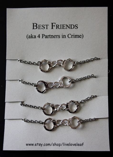 best for 4 best friends 4 four matching bracelets for partners in