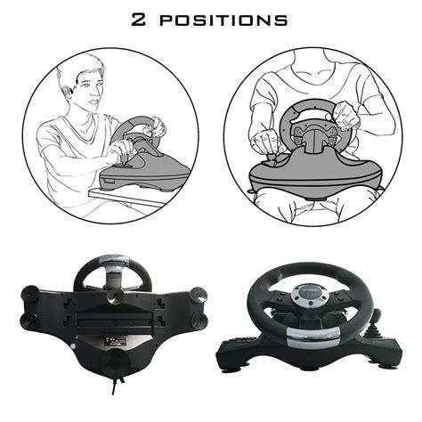 volante e pedali ps3 subsonic volante da corsa racing wheel universal con