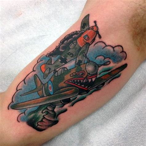 hanoi electric tattoo 50 airplane tattoos for men aviation and flight ideas