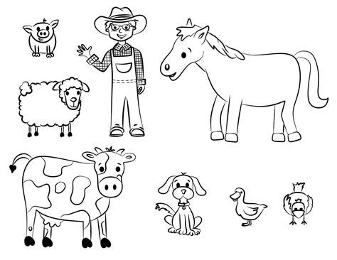 coloring page of on draw farm animal coloring sheets 95 on coloring pages of