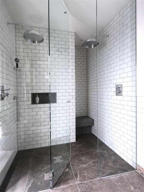 subway tile in bathroom shower white subway tile shower houzz