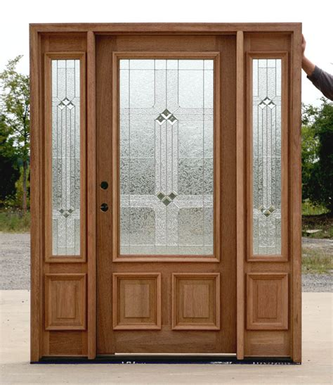 Front Door With Sidelight Mahogany Exterior Entry Door With Sidelights 200bdr Ebay