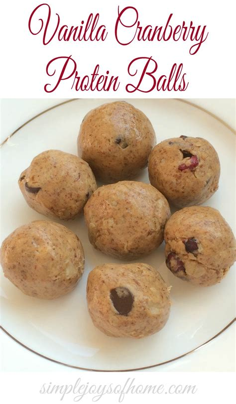 Simple Joys Of Home 5 Vanilla And Cranberry Protein Balls Simple Joys Of Home
