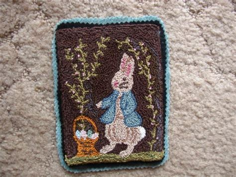 rug punch patterns primitive easter punch needle mini rug pattern