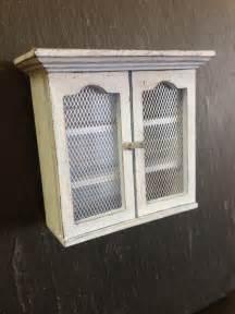 dolls house miniature chicken wire kitchen cabinet