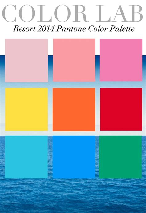 pantone color pallete trend council color lab resort 2014 pantone color