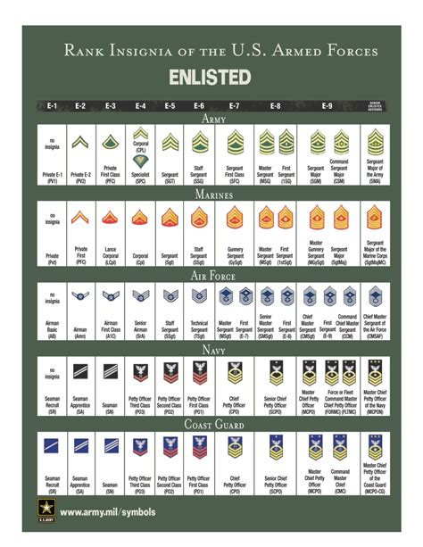 6 best images of officer rank chart printable