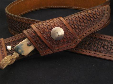 horizontal leather knife sheath crafted horizontal leather knife sheath by ramos