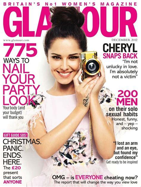 celebrity news magazines list cheryl cole glamour magazine cover united kingdom