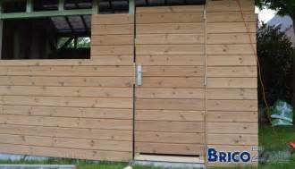fabrication porte en bois abri de jardin
