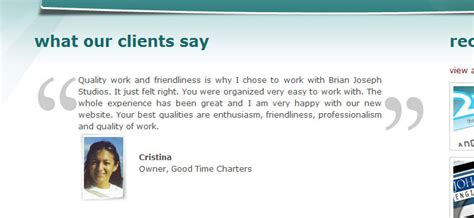 Creatively Display Client Testimonials Using Css Client Testimonial Template