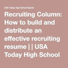 Resume Tips Usa Today 1001 Recruit Tips Sports Motivational Quotes Athletic Scholarships Tips From 1001recruittips