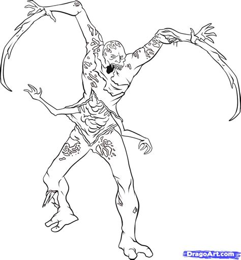 space monster coloring page dead space pages coloring pages