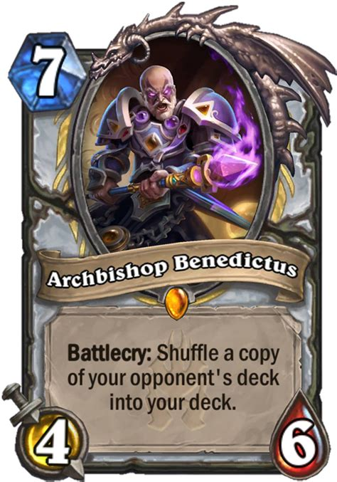 Hearthstone Legendary Card Template by Archbishop Benedictus Hearthstone Card