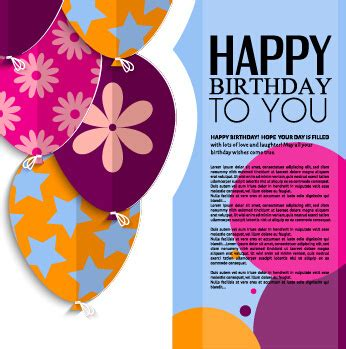 birthday card template design vector free download happy birthday greeting cards free vector download 15 130