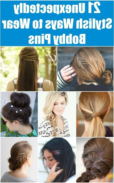 best way to wear longer hair behind the ears 15 best of long hairstyles using bobby pins