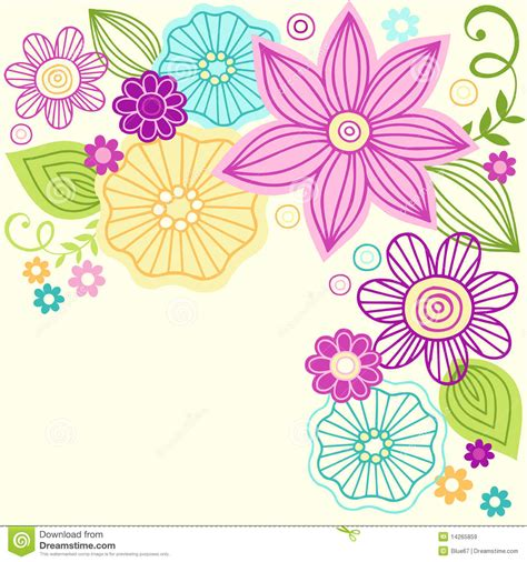 free vector floral doodle flower doodle vector design royalty free stock images