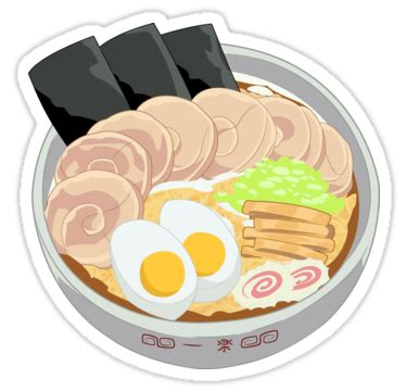 Anime Ramen by Quot Delicious Anime Ramen Quot Stickers By Langstal Redbubble