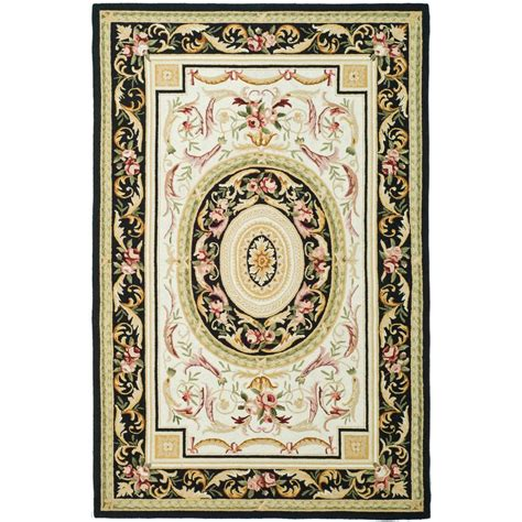 8 x 9 area rugs safavieh chelsea ivory black 7 ft 9 in x 9 ft 9 in area rug hk72b 8 the home depot
