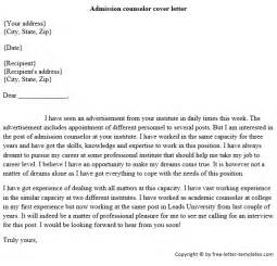 Admission Counselor Cover Letter by Admissions Counselor Cover Letter