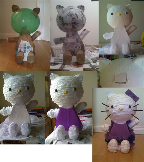 How To Make A Paper Mache Pinata Without A Balloon - how to make a hello pinata i use cotton wool soaked
