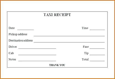 taxi receipt template india taxi receipt template india invoice in word free