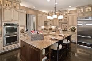 Cream Kitchen Cabinets With Chocolate Glaze dream kitchen almond cream kitchen cabinets with chocolate pin glaze