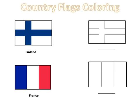 flags of the world by colour country flags coloring pages for kids