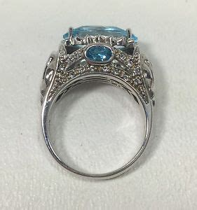 qvc hsn wieck 925 sterling silver ring w blue