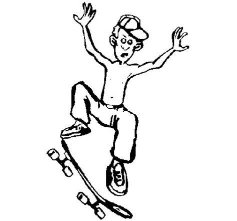imagenes de skate para dibujar a lapiz dibujo de skater para colorear dibujos net