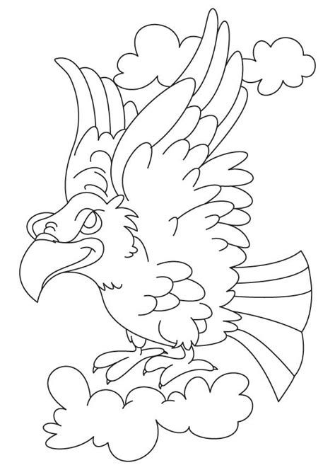 coloring page of eagle flying bald eagle in nest coloring pages