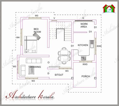 kerala model 3 bedroom house plans architecture kerala plan 183 low medium cost house