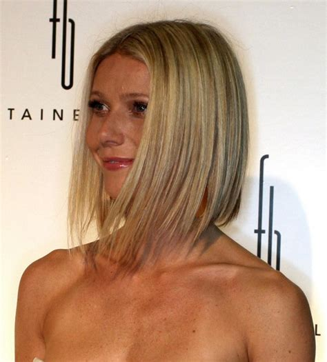 haircut with irregular length more pics of gwyneth paltrow mid length bob 5 of 8 mid