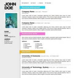 Free Html Resume Template by Html Resume Templates