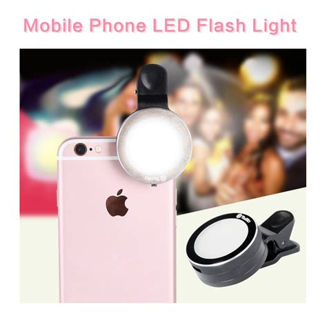mobile phone led flash light selfie ring light with