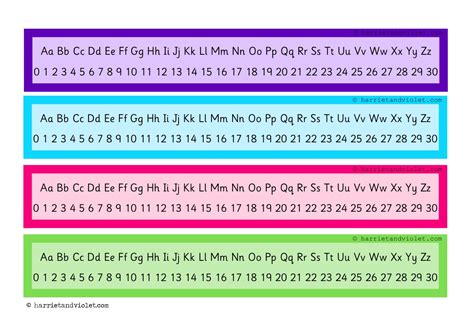 printable number line alphabet number line 0 to 30 alphabet chart free teaching