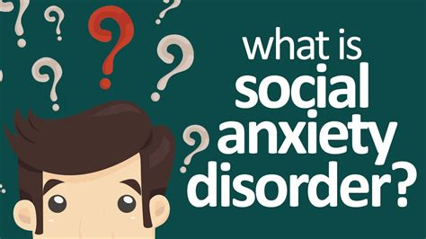 social phobia   social anxiety disorder youtube