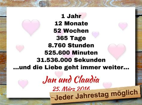 Hochzeit 1 Jahrestag by Liebesbeweis Geschenkidee Zum Hochzeitstag Jahrestag