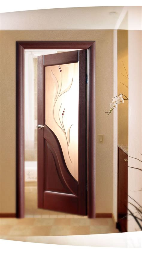 wooden glass doors interior modern wood and glass door
