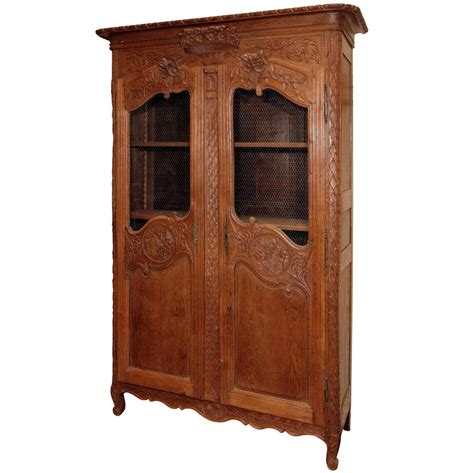Oak Armoire Antique Provincial Oak Door Armoire Circa