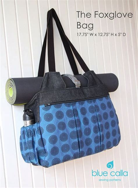 yoga bag pattern with zipper the foxglove is a huge bag with many pockets making it the