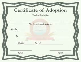 blank adoption certificate template the certificate of adoption can help you make a