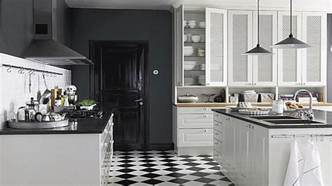 black white kitchen tiles black and white kitchen floor modern bistro kitchen black