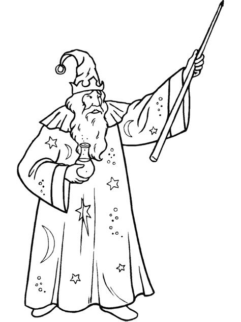 Magician Coloring Pages Coloringpages1001 Com Coloring Page Of A