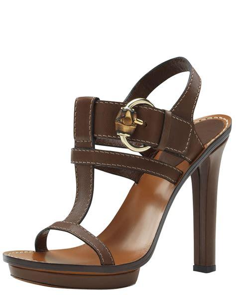 Sendal Wanita Sendal Gucci High Heels White Black gucci gwen high heel platform sandal in lyst
