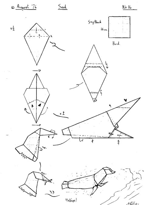 free coloring pages free origami instructions diagrams